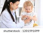 doctor and patient baby in...   Shutterstock . vector #1201591099