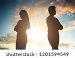 Silhouette Of A Unhappy Couple...