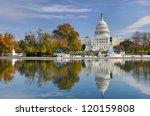 us capitol building in autumn   ... | Shutterstock . vector #120159808