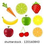 fresh fruits vector illustration | Shutterstock .eps vector #120160843