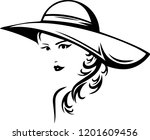 beautiful fashionable young... | Shutterstock .eps vector #1201609456