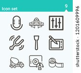 contains such icons as audio ... | Shutterstock .eps vector #1201609996