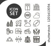 contains such icons as white... | Shutterstock .eps vector #1201613056