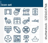 contains such icons as football ... | Shutterstock .eps vector #1201614766
