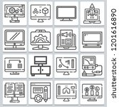 vector icons such as as browser ... | Shutterstock .eps vector #1201616890