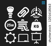 vector icons such as  25 watts...   Shutterstock .eps vector #1201618063