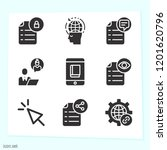 simple set of 9 icons related... | Shutterstock .eps vector #1201620796