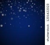 sparse snowfall christmas... | Shutterstock .eps vector #1201622023
