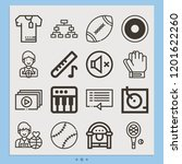 contains such icons as shirts ... | Shutterstock .eps vector #1201622260