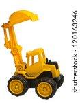 Toy Heavy Excavator Isolated...