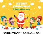 vector illustration of santa... | Shutterstock .eps vector #1201643656