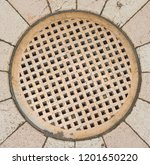 metal hatch in the form of a... | Shutterstock . vector #1201650220