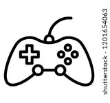 video gaming console  gamepad... | Shutterstock .eps vector #1201654063