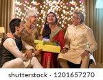 family sitting together and...   Shutterstock . vector #1201657270