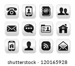 contact black buttons set  ... | Shutterstock .eps vector #120165928