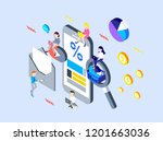 mobile marketing design | Shutterstock .eps vector #1201663036