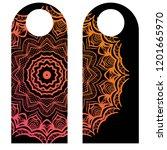 door hanger flyer with floral... | Shutterstock .eps vector #1201665970