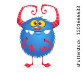cartoon grumpy monster character | Shutterstock .eps vector #1201666633