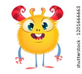 cute monster vector cartoon.... | Shutterstock .eps vector #1201666663