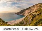 myrthos beach seascape and... | Shutterstock . vector #1201667293