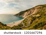 postcard kefalonian view on... | Shutterstock . vector #1201667296