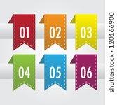 numbered riibbon divider set   Shutterstock .eps vector #120166900
