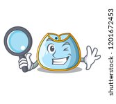 detective cartoon baby bib on a ...   Shutterstock .eps vector #1201672453