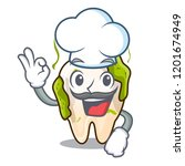 chef cartoon unhealthy decayed... | Shutterstock .eps vector #1201674949