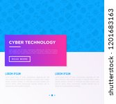 cyber technology concept with... | Shutterstock .eps vector #1201683163