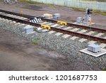 automatic railroad crossing... | Shutterstock . vector #1201687753
