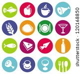 vector set or restaurant icons... | Shutterstock .eps vector #120168850
