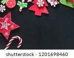christmas ornaments on a... | Shutterstock . vector #1201698460