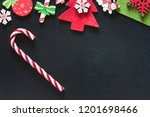 christmas ornaments on a... | Shutterstock . vector #1201698466