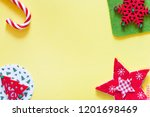 christmas background with copy... | Shutterstock . vector #1201698469