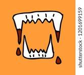 vampire's teeth icon isolated... | Shutterstock .eps vector #1201699159