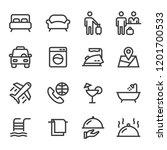hotel icons   set 1   Shutterstock .eps vector #1201700533