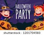 halloween party poster template.... | Shutterstock .eps vector #1201704583