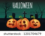halloween banner design.... | Shutterstock .eps vector #1201704679