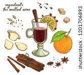 vector set with ingredients for ... | Shutterstock .eps vector #1201706893