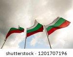 three bulgarian national flags... | Shutterstock . vector #1201707196