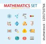 mathematics icon set. gear... | Shutterstock .eps vector #1201710766