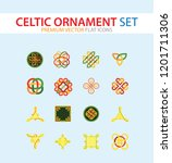 celtic ornament icon set.... | Shutterstock .eps vector #1201711306