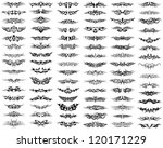 patterns of tribal tattoo set.... | Shutterstock .eps vector #120171229