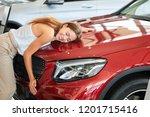 female businessman loving her...   Shutterstock . vector #1201715416