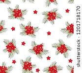 cypress vine flower on... | Shutterstock .eps vector #1201718170