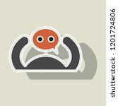 sticker social network icon ... | Shutterstock .eps vector #1201724806