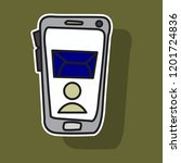 sticker illustration of... | Shutterstock .eps vector #1201724836