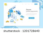 flat isometric vector landing... | Shutterstock .eps vector #1201728640