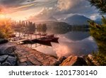scenic image of fairytale lake... | Shutterstock . vector #1201730140
