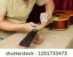 musical instrument guitar... | Shutterstock . vector #1201733473